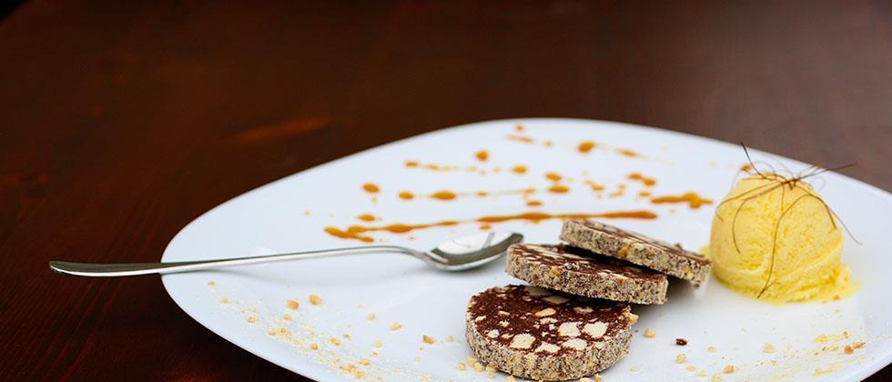 Probieren Sie unsere Schokoladensalami