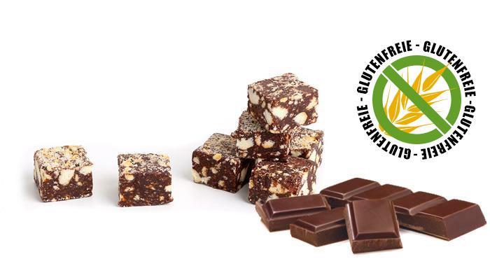 Glutenfreie Schokoladensalami