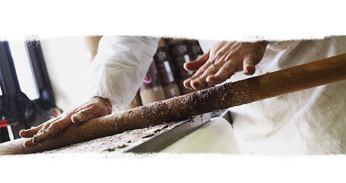 Die Herstellungsphasen der süßen Salami